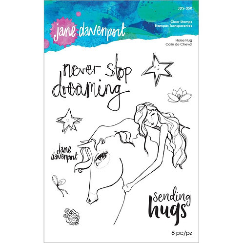 Jane Davenport Whimsical & Wild Collection Clear Stamp~Horse Hug