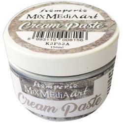 Stamperia Metallic Cream Paste 150ml Silver