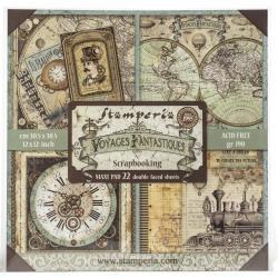 Voyages Fantastiques, 22 Designs/1 Each 12 x 12