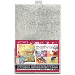 Stamperia Washable Stone Paper A4 Silver