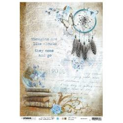 Jenine's Mindful Art Rice Paper Sheet A4 NR. 07