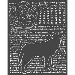 """Stamperia Stencil 7.87""""X9.84"""" Wolf, Arctic Antarctic"""