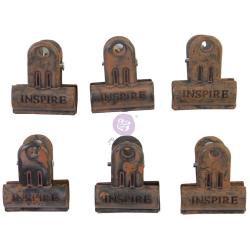 Rusty~Finnabair Binder clips