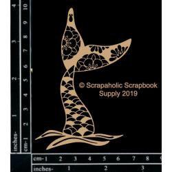 "Scrapaholics Laser Cut Chipboard 1.8mm Thick Mermaid Tail, 4""X3"""