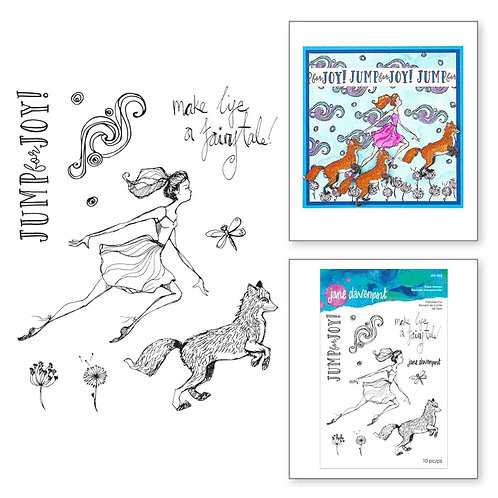 Jane Davenport Whimsical & Wild Collection Clear Stamp~Fairytale Fox