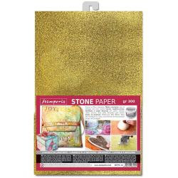 Stamperia Washable Stone Paper A4 Gold