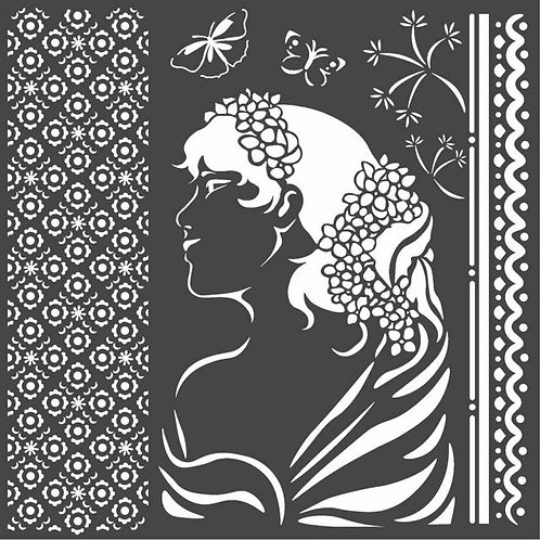 Stamperia~Lady Side Stencil