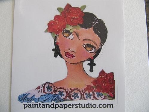Paint and Paper Studio Logo Sticker