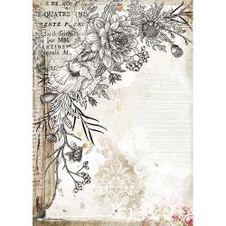 Journal Stylized Flower, Romantic~Rice paper