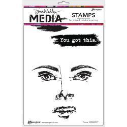 "Dina Wakley Media Cling Stamps 6""X9"" Fierce"