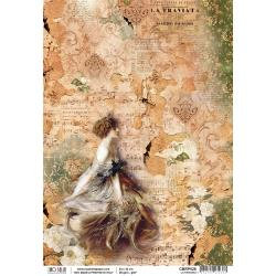 Ciao Bella Rice Paper Sheet A4~ La Traviata