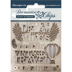 "Adventure~Stamperia Decorative Chips 5.5""X5.5"""