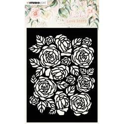Rose Pattern Stencil