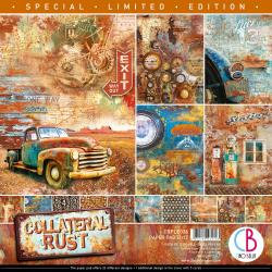 """Ciao Bella Double-Sided Paper Pack 90lb 12""""X12"""" 12/Pkg Collateral Rust, 12 Desig"""