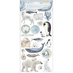 Stamperia~Arctic Antarctic Chipboard 6 x 12