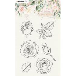 Rose Flower Stamp