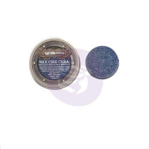 Finnabair Art Alchemy Metallique Wax - Old Denim