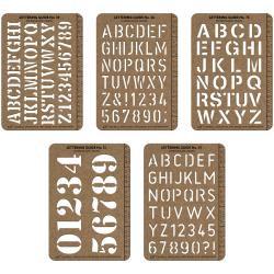 "Idea-Ology Stencil Cards 5.375""X3.75"" 5/Pkg"