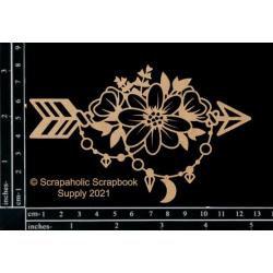 """Boho Floral Arrow 1, 2/Pkg, 5""""X3"""""""