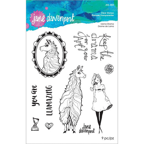 Jane Davenport Whimsical & Wild Collection Clear Stamp~Llama Drama