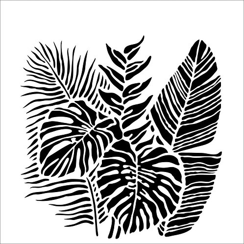 "Crafter's Workshop Template 6""X6"" Tropical Fronds"