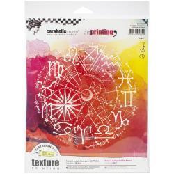 Carabelle Studio Art Printing Round Rubber Texture Plate Zodiac