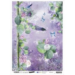 Jenine's Mindful Art Time To Relax Rice Paper Sheet A4 NR. 27