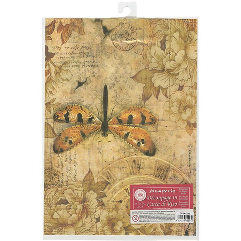 Stamperia Rice Paper Sheet A4~Mixed Media Dragonfly