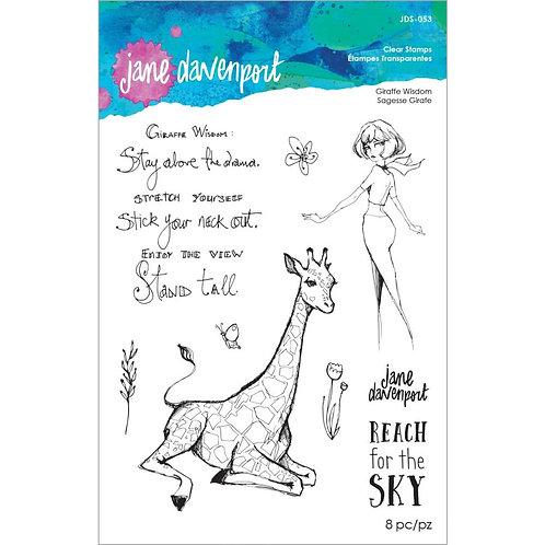 Jane Davenport Whimsical & Wild Collection Clear Stamp~Giraffe Wisdom