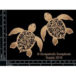 Scrapaholics Laser Cut Chipboard 1.8mm Thick~sea turtles
