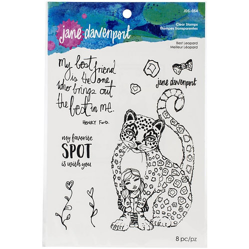 Jane Davenport Whimsical & Wild Collection Clear Stamp~Best Leopard
