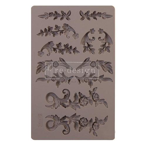 """Prima Marketing Re-Design Mould 5""""X8""""X8mm~Delicate Flora"""