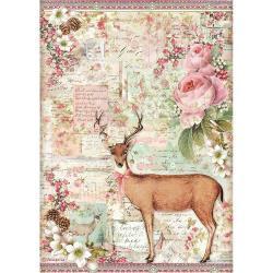 Deer, Pink Christmas