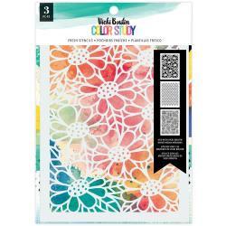 Vicki Boutin Color Study Stencils 3/Pkg Fresh