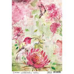 Ciao Bella Rice Paper Sheet A4 Hummingbird, Microcosmos