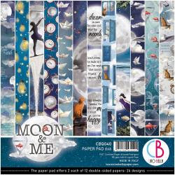 Moon & Me, 12 Designs/2 Each 6 x 6