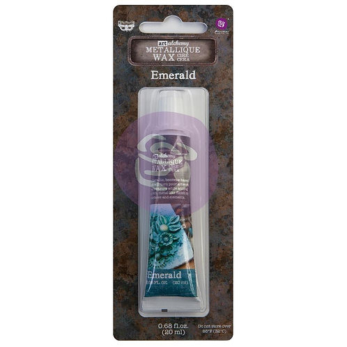 Finnabair Art Alchemy Metallique Wax~Emerald