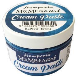 Stamperia Metallic Cream Paste 150ml Blue