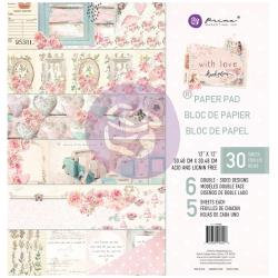 """Prima Marketing Double-Sided Paper Pad 12""""X12"""" 24/Pkg With Love"""
