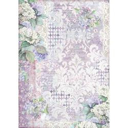 Stamperia Rice Paper Sheet A3 Hortensia Wallpaper