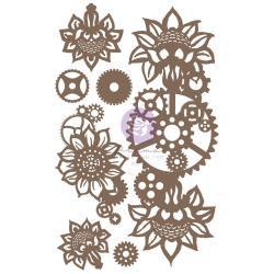 Machine Floral Decors, 7/Pkg