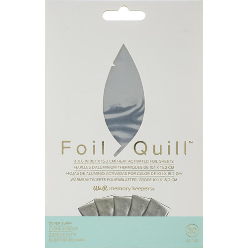 We R Memory Keepers Foil Quill Foil Sheets~Silver Swan