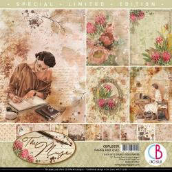 """Ciao Bella Double-Sided Paper Pack 90lb 12""""X12"""" 12/Pkg The Muse, 12 Designs/1 Ea"""