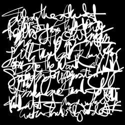Messy Writing 6 x 6 stencil