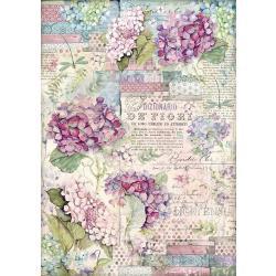 Stamperia Rice Paper Sheet A3 Hortensia