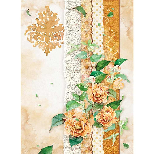 Flowers For You Ocher~stamperia Rice Paper