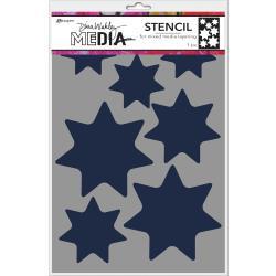"Dina Wakley Media Stencils 9""X6"" Giant Stars"