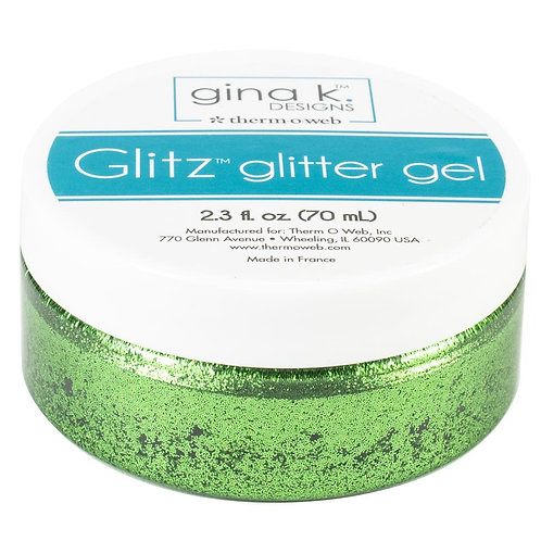 Gina K Designs Glitz Glitter Gel~Grass Green