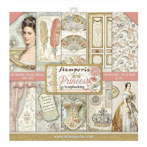 Stamperia~PRINCESS -PAPER PAD 12X12 10PK