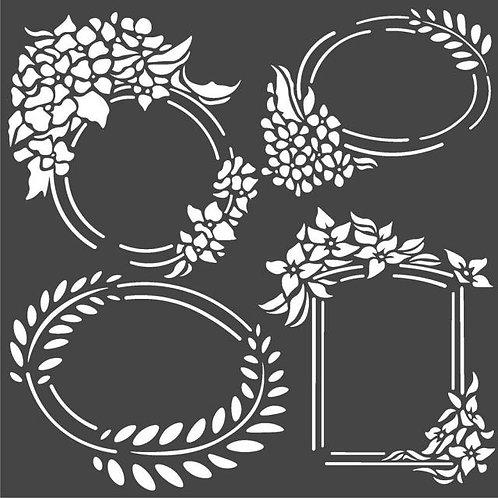 Stamperia~Labels stencil